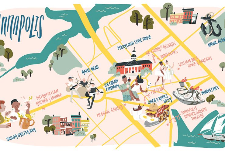 Annapolis Daytrip Map