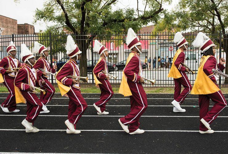 dunbar high school marching