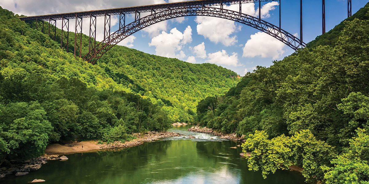 The New River Gorge Bridge Seen From Fayette Station Road At The New River Gorge National River West Virginia 1