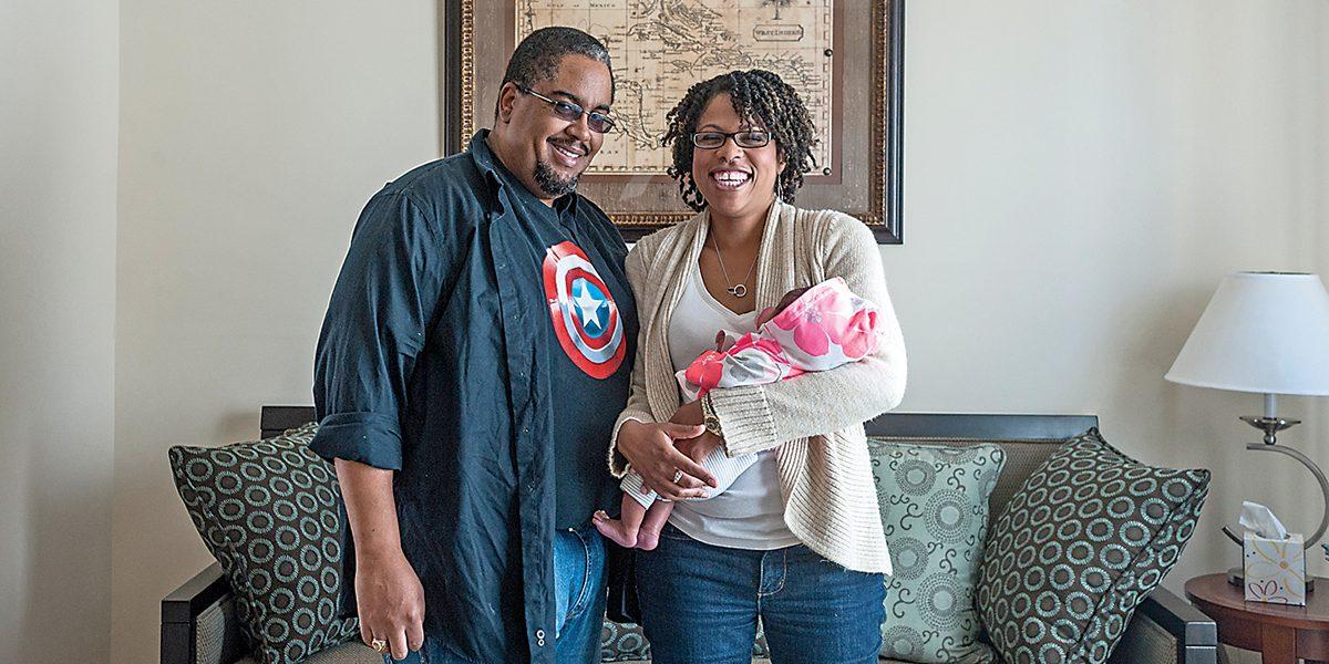 April-2013-Gregg Presbury  Marijka Grey  Physician  and Baby Sylvia  Baby -3