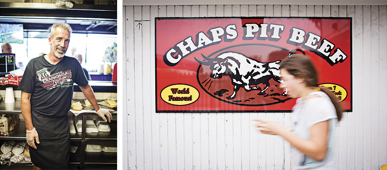 Bob Creager of Chaps, a scene from Chaps Pit Beef.