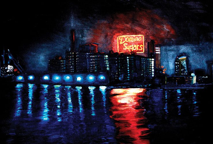 Brian Vogt Domino Sugars Oil Painting