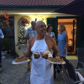 Chef  Masood Serves Dinner At  Cricchio Residence In  Maiori