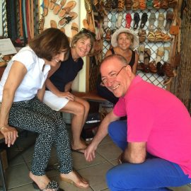 Guests Get Custom Made Sandals By  Alfonso Of  Sandali  Tipici