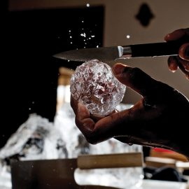 Hand Cut Ice At Clavel 9819