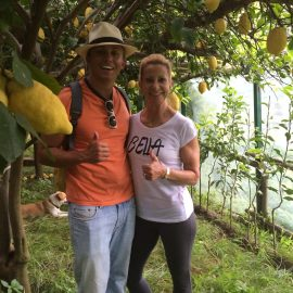 Mary  Ann And Son  Mimmo  Jr  Tour The Lemon Groves In  Minori