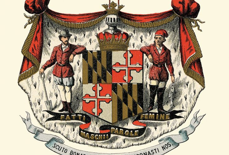 Maryland flag coat of arms