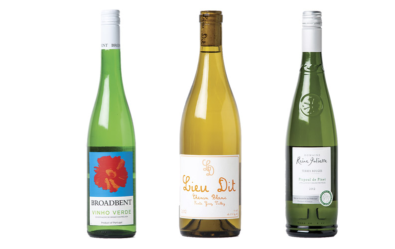 Wine bottles of August