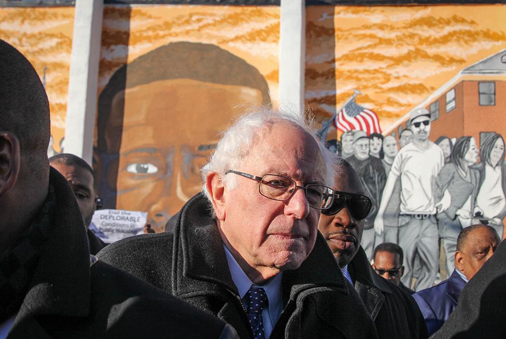 Bernie Sanders Baltimore Mural