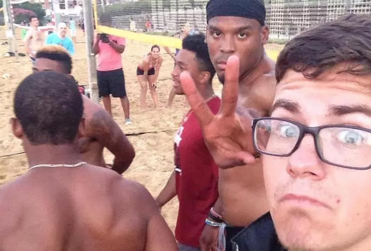 Cam Newton volleyball