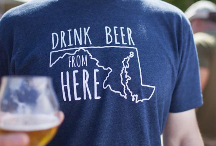 Drink Beer Maryland Tshirt 0