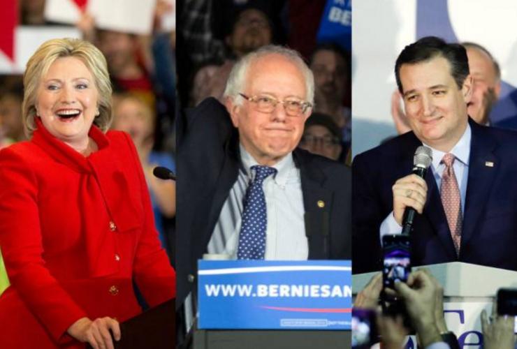 Iowa Caucus Clinton Cruz Sanders