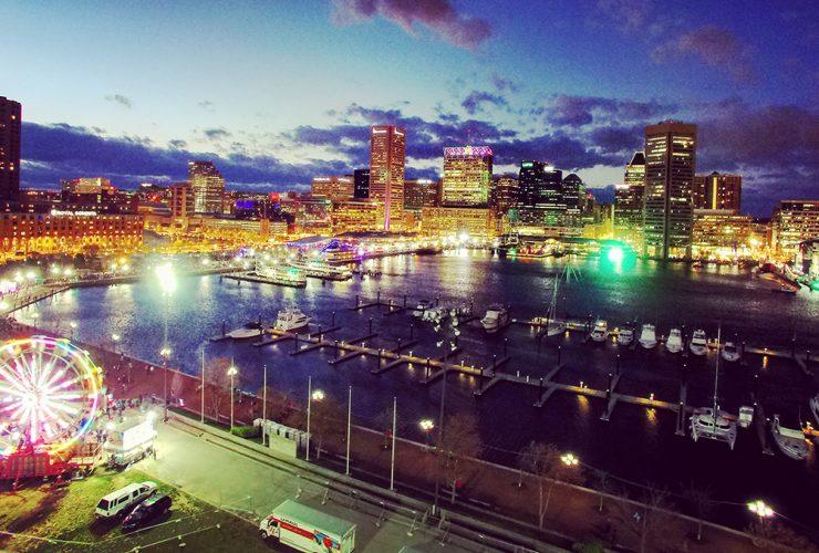 Light City Baltimore Skyline