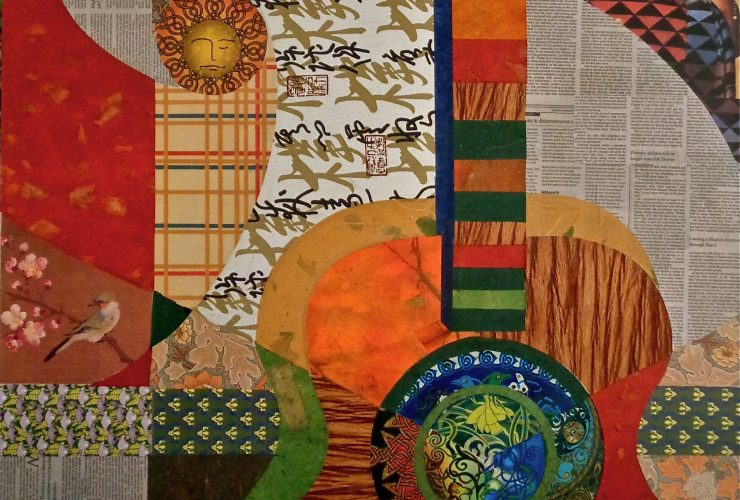 Wtmd Minas Konsolas Guitar2 2018 Collage On Canvas 30X30In