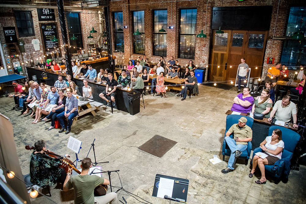 James Lowe and Terry Shirley-Quirk perform during a sold-out Bach in the Brewery concert at Monument City Brewing Company.