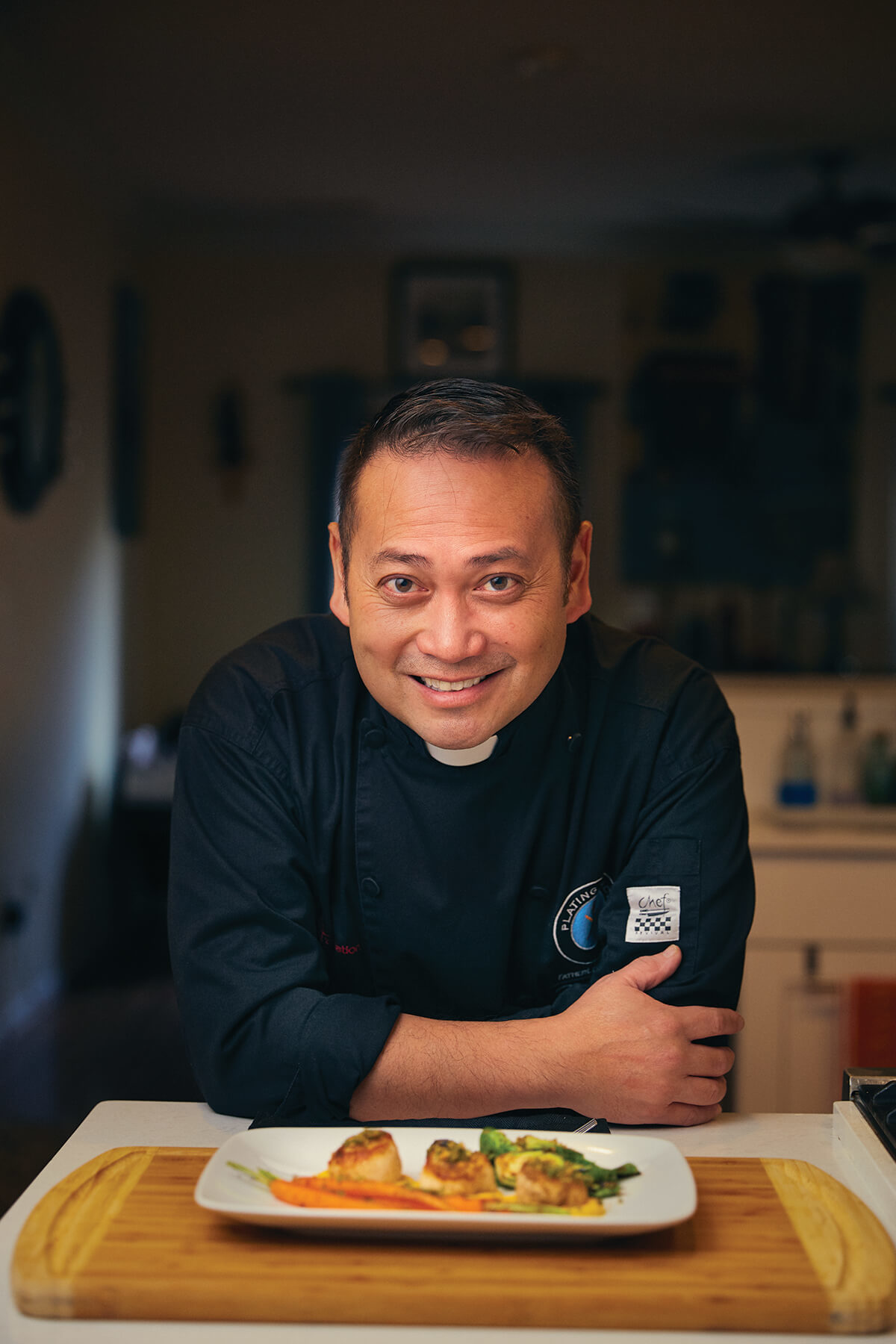 In The Kitchen With Father Leo Patalinghug Baltimore Magazine